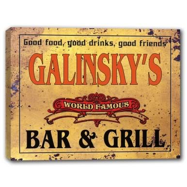 Galinsky Print (GALINSKY'S World Famous Bar & Grill Stretched Canvas)