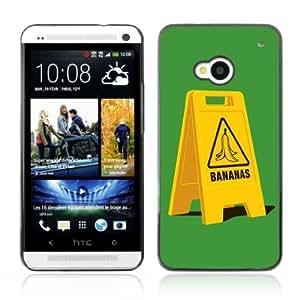 YOYOSHOP [Funny Banana Slip Sign] HTC One M7 Case