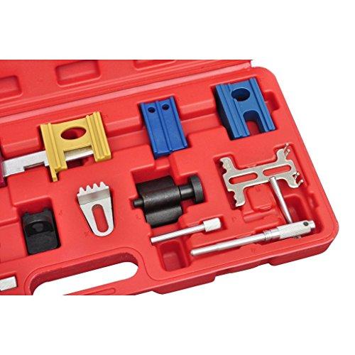 Festnight Caja de Herramienta de Bloqueo Ajuste de Distribución para Coche 19 pieza: Amazon.es: Bricolaje y herramientas