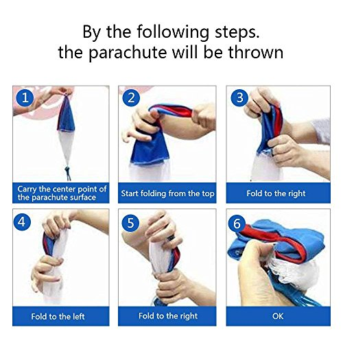 Camlinbo Parachute Toy-8 Pack Tangle Free Throwing Hand Throw Soldiers Parachute Man, Outdoor Children's Flying Toys for Kids Boys Girls Toddler No Battery nor Assembly Required by Camlinbo (Image #8)