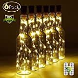 interesting diy patio decor ideas Wine Bottle Light with Cork, 6 Pack Battery Operated Cork Lights for Wine Bottles Cork String Lights Fits All Bottle Shape, 20 LED Warm White Fairy Lights for DIY, Party, Decor, Halloween,Wedding