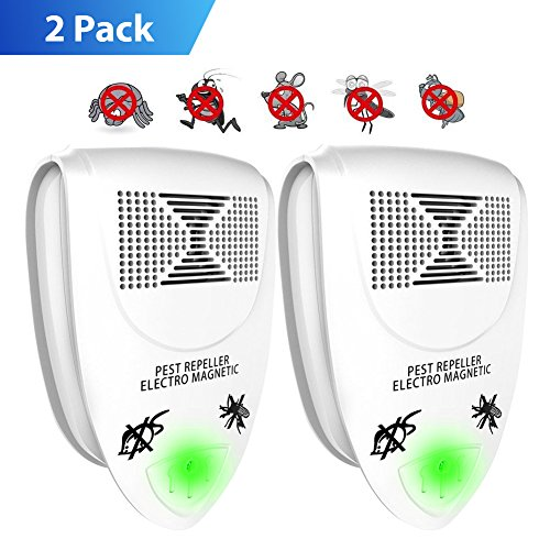 Lightsky Ultrasonic Pest Repeller Pest Control, Spider repellent, Electronic Plug In Pest Repeller- Repels Mice,Roaches,Spiders,Other Insects,Non-toxic Environment-friendly, Humans & Pets Safe -2 Pack