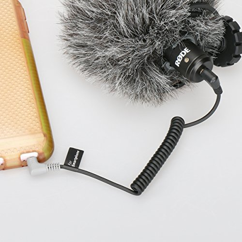 Ulanzi 3.5mm TRS to TRRS Patch Cable, Smartphone adapter cable for RODE VideoMicro VideoMic Go BY-MM1