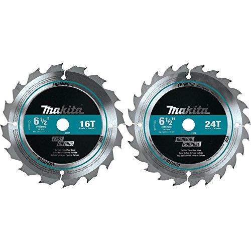 (Makita T-01426 2 Piece Carbide-Tipped Saw Blade Set,)