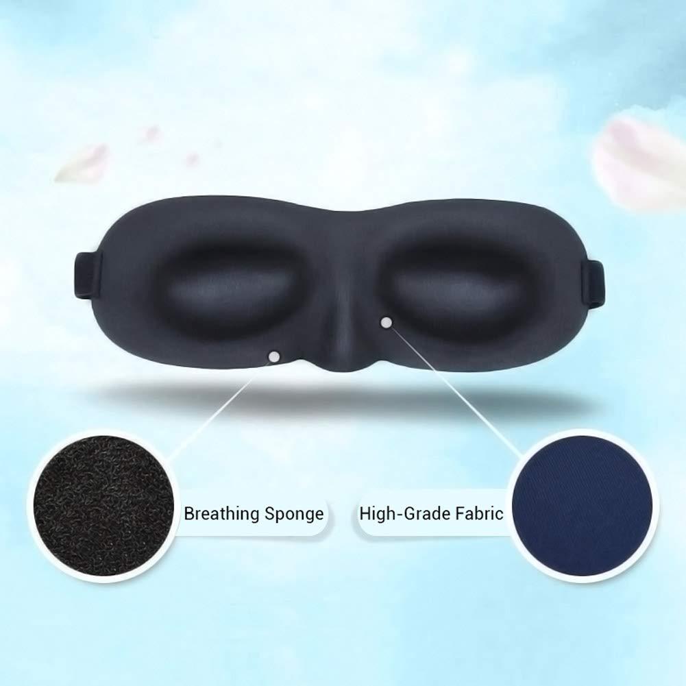 LoveSelfy 3D Antifaz para Dormir Anti-luz Sleep Mask para Hombre Mujer Adultos y Ni/ños Suave y Compacta 1 M/áscara para Dormir con Par de Auriculares de Cancelaci/ón de Ruido para Meditaci/ón De Viaje
