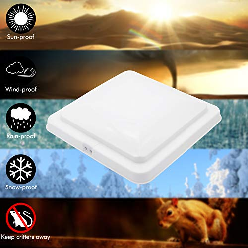 """RV Air Vent Cover For Camper Trailer 15/""""*15/"""" Replacement 2 Pack White ONLTCO NEW"""