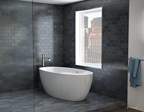 Fleurco Aria Voce Petite Freestanding Acrylic Soaking Bathtub Bvo5531