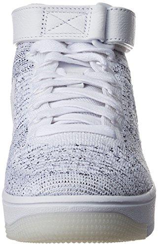 Zapatillas Nike Para Mujer Af1 Air Force 1 Flyknit Hi Top 818018 Zapatillas Gris-blanco