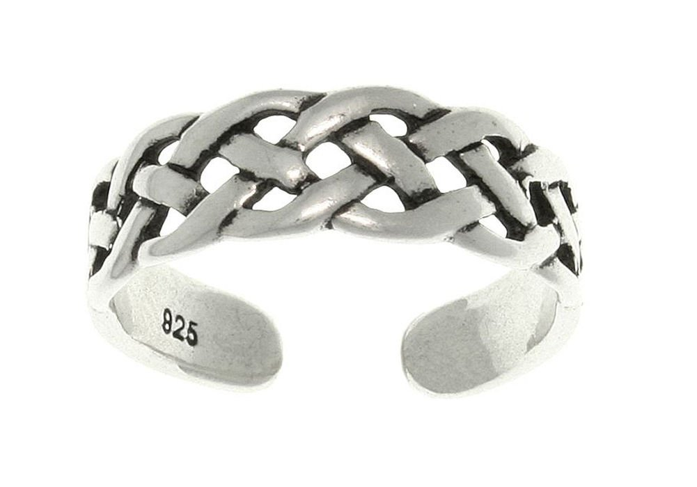 Jewelry Trends Open Celtic Weave Knot Sterling Silver Toe Ring Adjustable-Size by Jewelry Trends