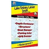 Lake Sidney Lanier-South Fishing Map (Dam to Browns Bridge)