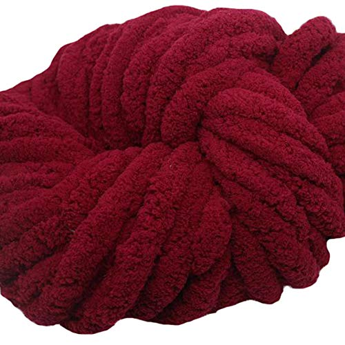 Chunky Knit Vegan Blanket,Chunky Chenille Yarn,Arm Knit Blanket,59x71in Giant Knit Throw New Year Gift by FAU-Hand Knit Blanket (Image #1)
