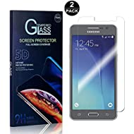 Galaxy Grand Prime Tempered Glass Screen Protector, UNEXTATI Screen Protector Film, HD Clear Tempered Glass Film for Samsung Galaxy Grand Prime (2 Pack)