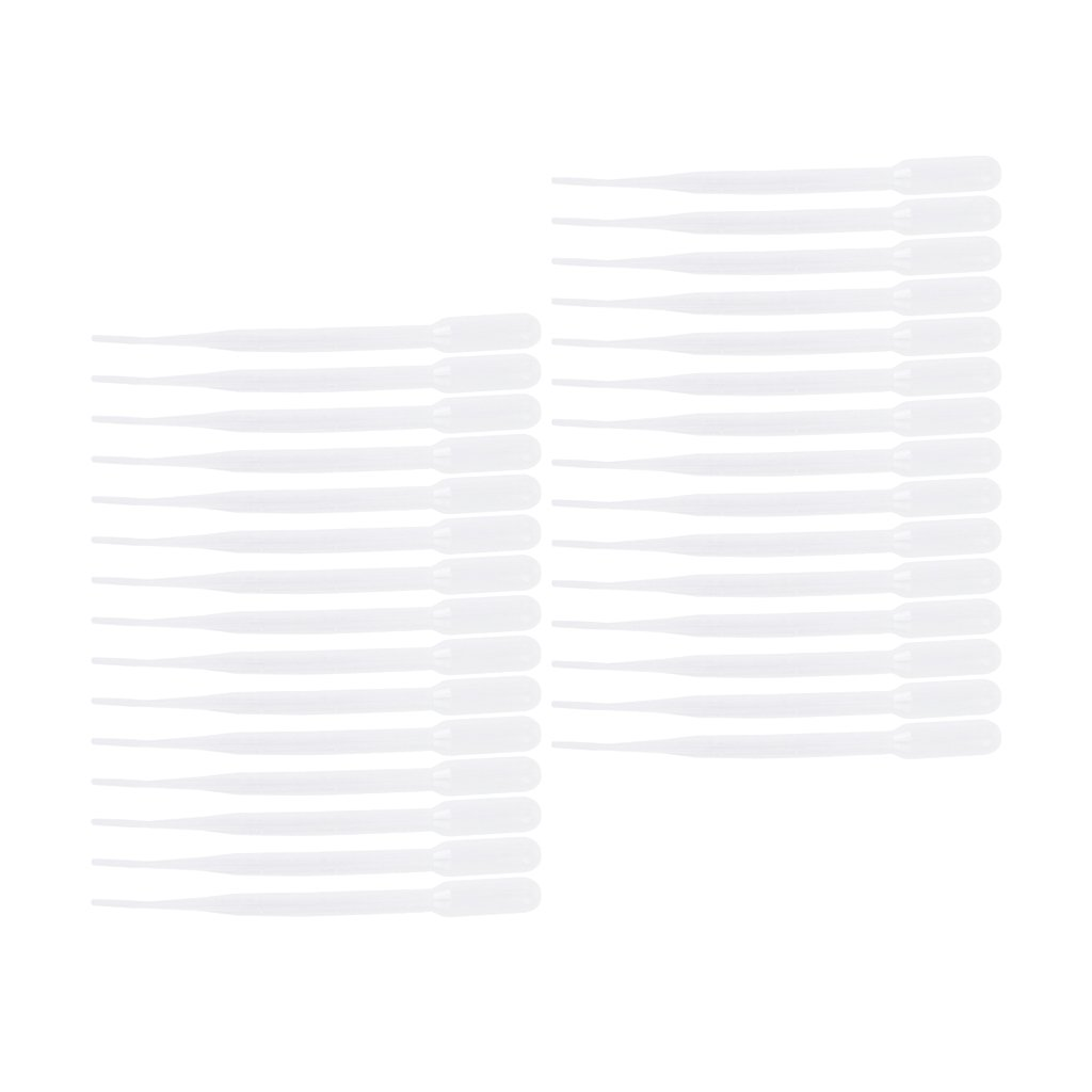 30Pcs 3ml Graduated Reusable Transfer Pipettes 160mm Pipets Eye Droppers