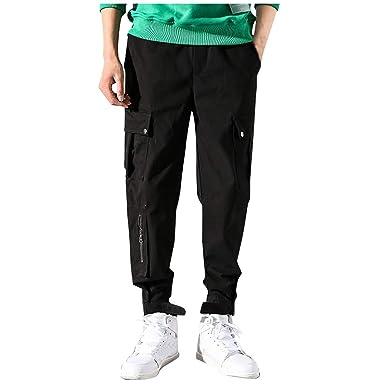 Pantalones Hombre Casual Moda Trabajo Pantalones Pants Jogging ...