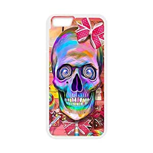 Case Cover For HTC One M7 Colorful skeleton Phone Back Case DIY Art Print Design Hard Shell Protection FG043383