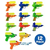Liberty Imports Pack of 12 Double Shot Water Squirt Guns | Party Favor Blaster Soaker Toy Pistols for Summer Beach Pool Play Games (Assorted Colors)