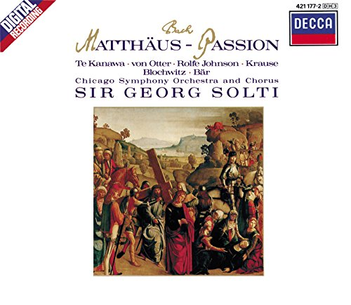 Cover of Bach: Matthäus-Passion (St. Matthew's Passion) / Sir Georg Solti