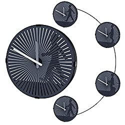 KABB 12 Inch Wall Clock Retro Zoetrope Design with Animator Motion Image Display Modern Silent Non-Ticking Quartz Decorative Round Wall Clock for Living Room Office and Home Decor ( Walking Man)