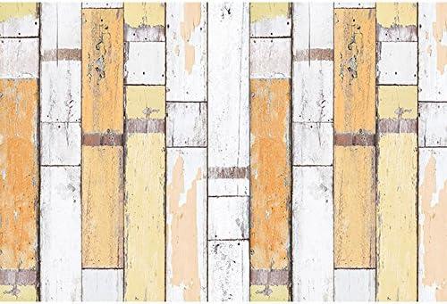 ケイ・ララ 壁紙 はがせる シール 【イエロー木目柄の貼ってはがせるのり付き壁紙シール】 幅50cm×10cmサンプルサイズ 壁紙 シール リメイクシート y3