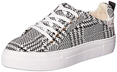 Jaggar Women's Nought Houndstooth Trainers, Black, 6 US