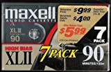 Maxell XLII IEC Type II 90 Minute High Bias Audio Cassette Tape - 7 Pack