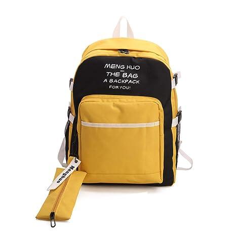 Moodn Laptop Viajes Mochila Viaje Adolescentes Fashion Mochilas Gran Capacidad Simple Mochilas Escolares Lona Color Sólido