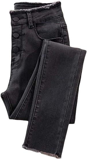 maweisong 女性冬スリムジーンズ厚いスキニーパンツフリースラインストレッチジェギング