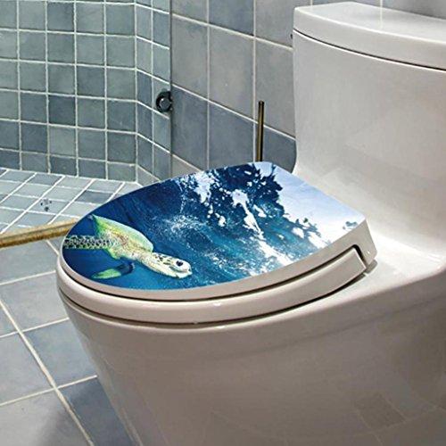 Vibola 3D DIY Toilet Seats Wall Stickers Removable Bathroom Decoration Decal Vinyl Mural Home Decor (C)