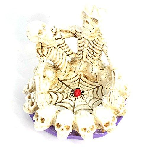 Creative Skull Head Ashtray Personality Resin Horror Ashtray Fashionable Ashtray Gift Halloween Easter Day Festival Party Show Celebration Prop Bar Decoration (Festival Halloween Day)