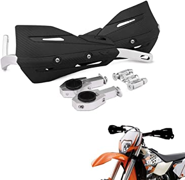 Universal For 7//8 And 1 1//8 Handlebar Handguards Dirt Bike Hand Guards White For Dirt Bike For Honda Yamaha Kawasaki Suzuki Motocross Enduro Supermoto