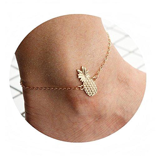 Auch Pineapple Pendant Anklets, Charm Foot Chian Bracelet Sandal Beach Barefoot Gift ()