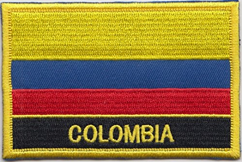 Colombia Country Flag - Colombia Country Flag Embroidered Blazer Badge Patch