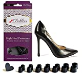 CLICKLESS High Heel Protectors - Heel Caps - 7 Pairs/7 Sizes (Black) for Slim Heels & Stilettos