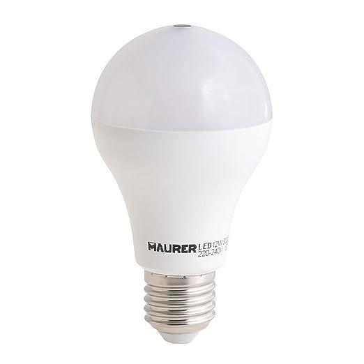 3 opinioni per Maurer 19070822–Lampadina LED con sensore crepuscolare, 12W, bianco