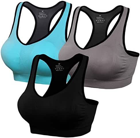 Lataly Womens Racerback Sports Bras Seamless High Impact Support Workout Yoga Bra