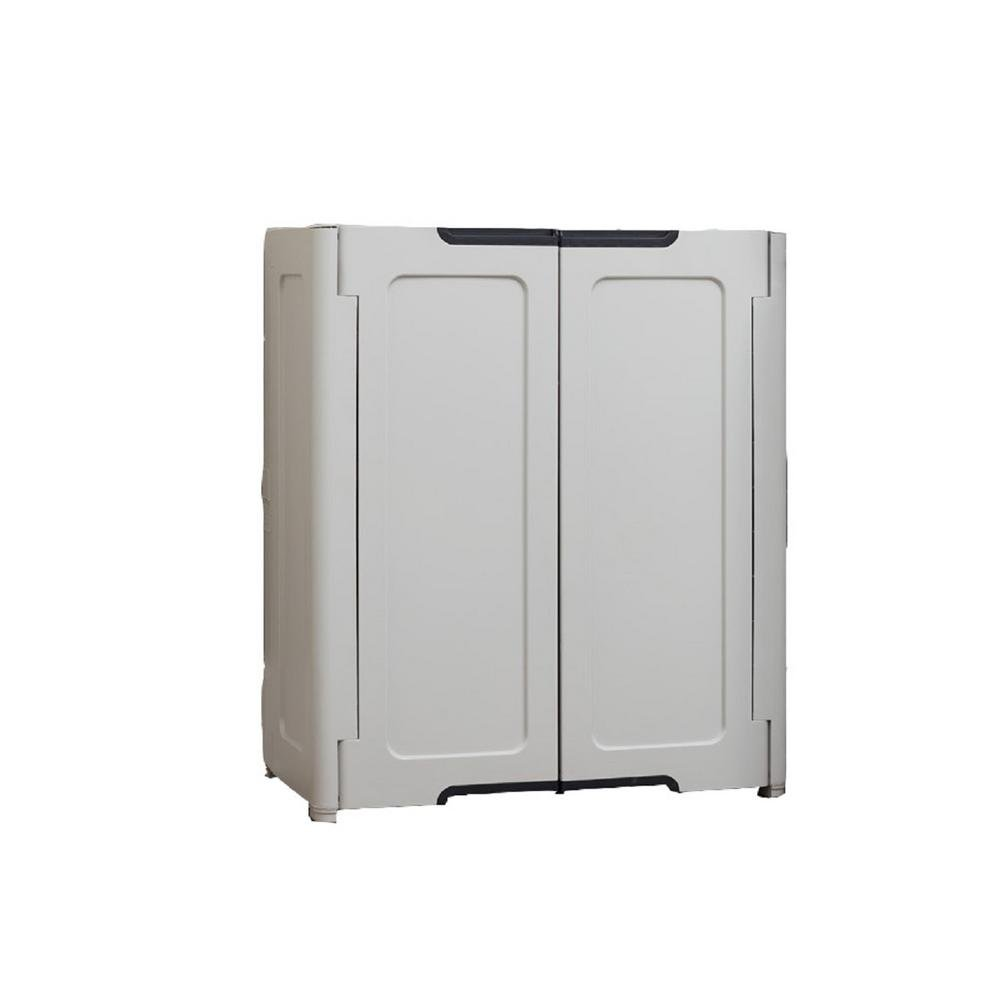 HDX 19 in. H x 30 in. W x 36 in. D Stackable Utility Base/Wall Freestanding Cabinet in Light Grey