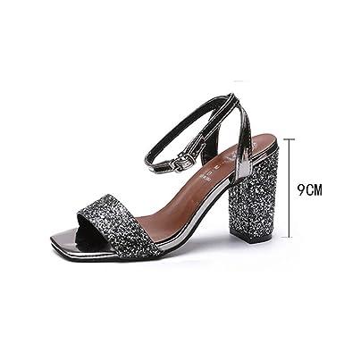POLP Sandalias Mujer Verano Alpargatas Plataforma Cuña Bohemias Planas Romanas Playa Tacon Zapatos Zapatillas Negro Sandalias con Punta Abierta para Mujer ...