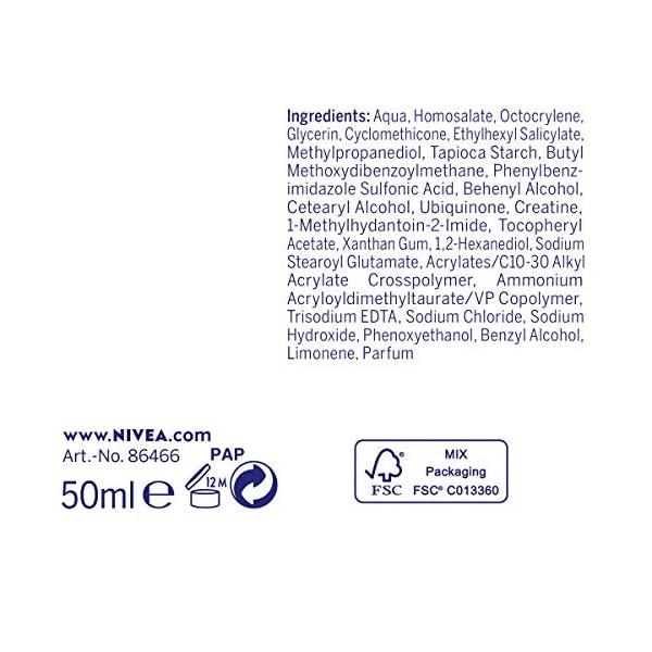 NIVEA Q10 Power Soin de Jour Anti-Rides +Fermeté FPS30 (1x50ml), crème anti-âge enrichie en Q10 & avec 10X plus de…