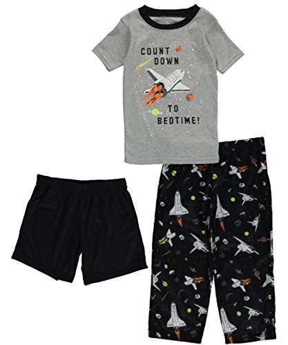 Carter's Little Boys' 3-Piece Pajama Set (3T, Black) ()