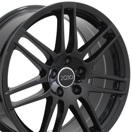 18×8 Wheel Fits Audi, Volkswagen – Audi RS4 Style Black Rim