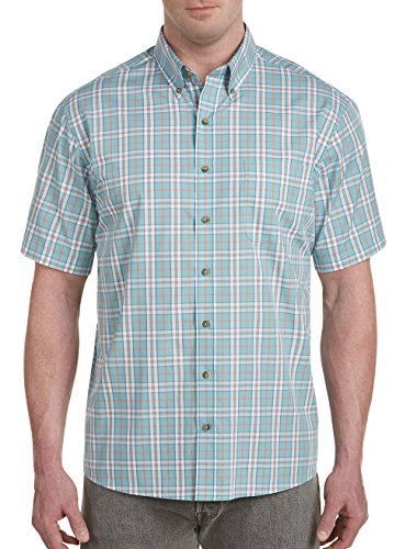 Harbor Bay by DXL Big and Tall Easy-Care Large Plaid Sport (Bay Plaid Shirt)