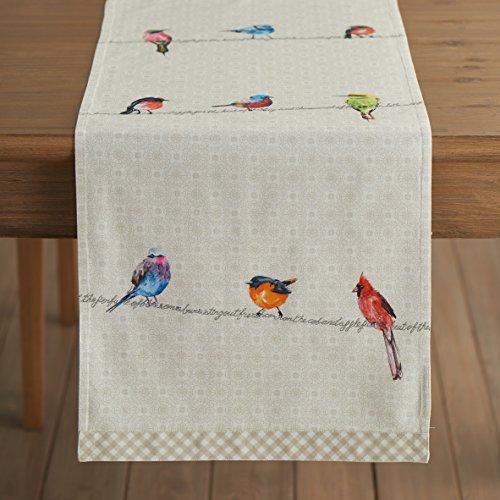Maison d' Hermine Birdies On Wire 100% Cotton Table Runner 1