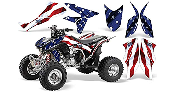 AMR Racing ATV Graphics kit Sticker Decal Compatible with Honda 450 TRX//R 2004-2016 Motorhead Red