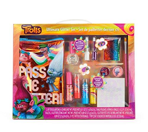 Townley Girl Dreamworks Trolls Ultimate Glitter Set with Lip Stick, Nail Polish, Glitter, Nail Foils, Tattoos and - Uk Ups Returns