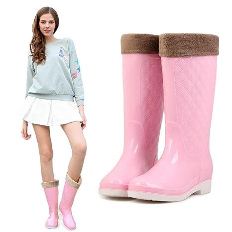 PVC tobillo Botas de lluvia zapatos de agua lluviosa nuevas