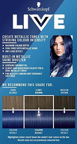 Schwarzkopf Urban Metallics Live Hair Colour U67 Blue Mercury Pack Of 3