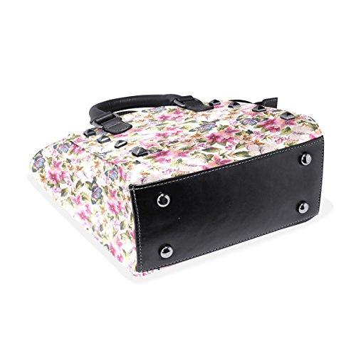 Coosun À Motif Floral poignée Multicolore Papillon Pu Haut Femmes Sacs En Avec Moyen Bandoulière Cuir Sac Main qFxRngq