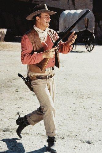 The Sons of Katie Elder John Wayne Poster running with rifle