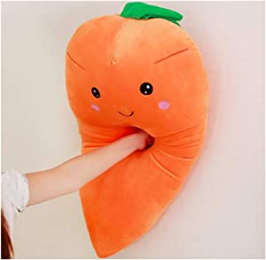 Dongcrystal 21.6 Inches Plush Carrot Pillows Stuffed Creative Vegetables Toys Smile