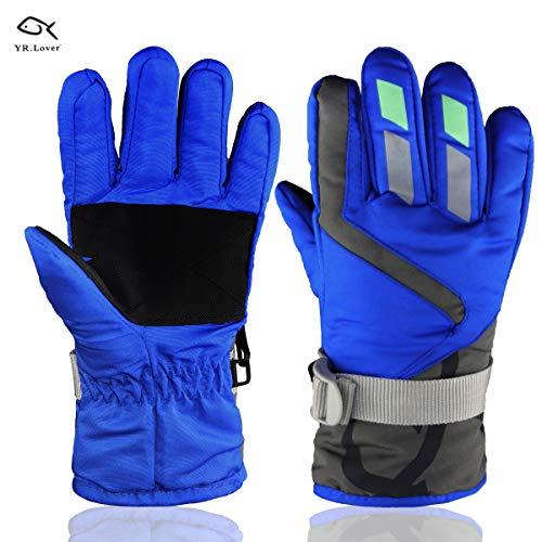 YR.Lover Children Ski Gloves Winter Warm Outdoor Riding Thickening -